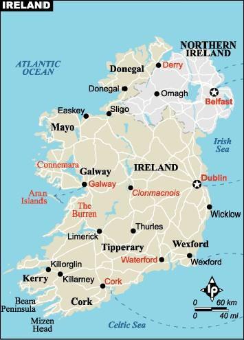 irlanda haritası